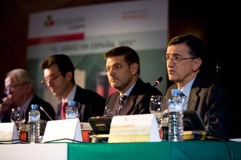 Rafael Catalá durante un acto de la Fundación Codere. CODERE