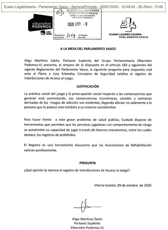 Registro de Prohibidos